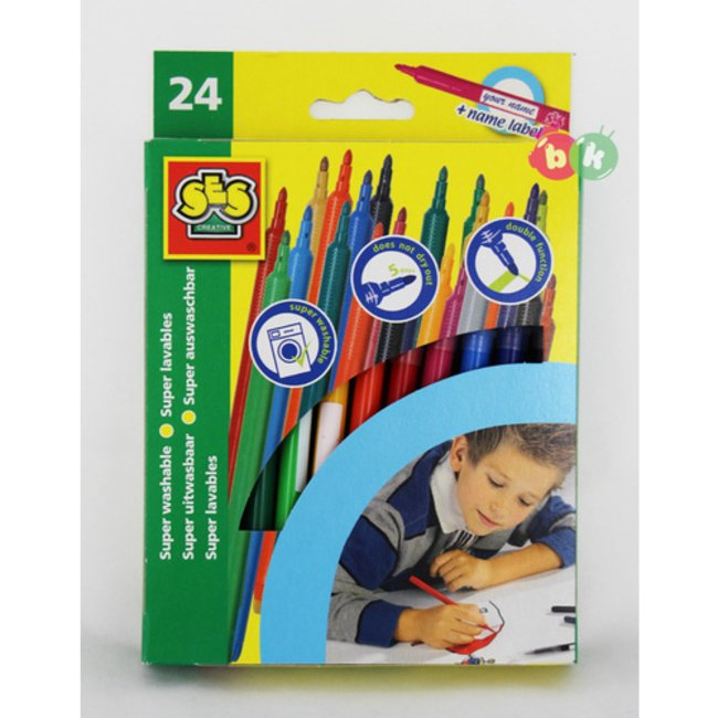 markers washable 24 colourكد2052