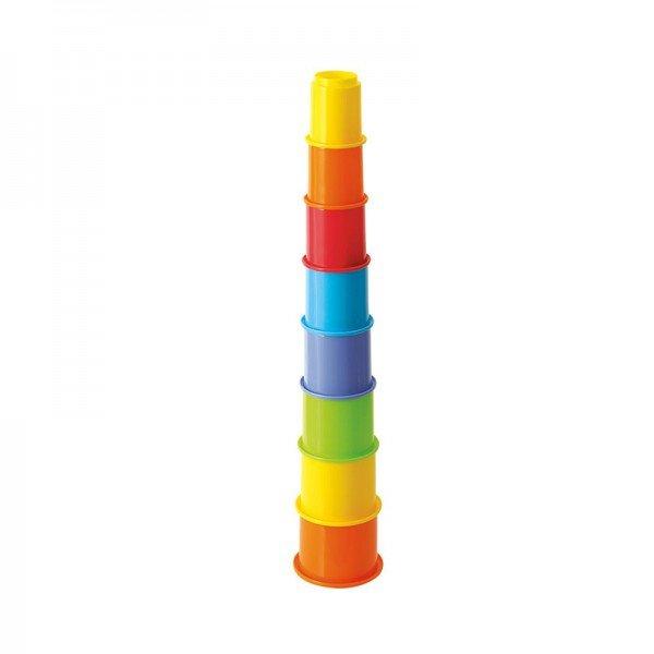 اسباب بازی برج هوش و استوانه رنگی کودک Playgo مدل 2396