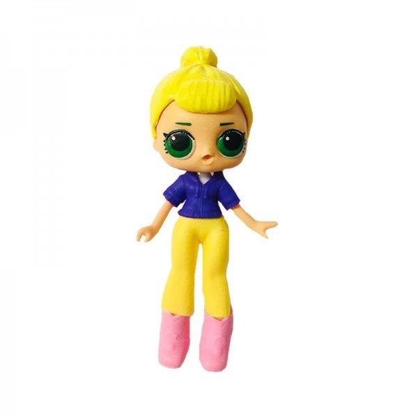 فیگور دخترک با لباس بنفش زرد Lol Surprise مدل 0280
