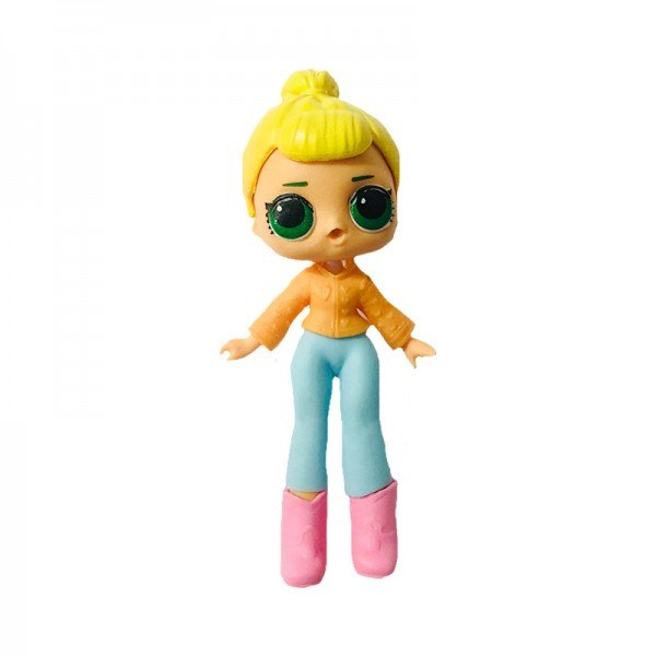 فیگور دخترک با لباس نارنجی آبی Lol Surprise مدل 0280