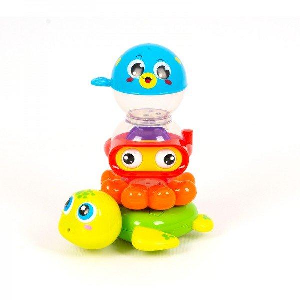 اسباب بازی حمام کودک طرح حیوانات  Huile Toys مدل 3112