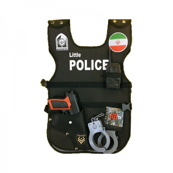 لباس مشاغل کودک جلیقه پلیس کودک با لوازم مدل 7533