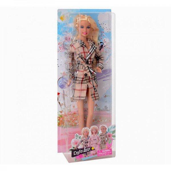 عروسک دفا با بارانی چهارخانه مدل 8425