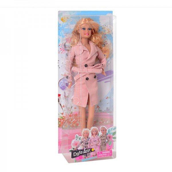 عروسک دفا با بارانی صورتی مدل 8425