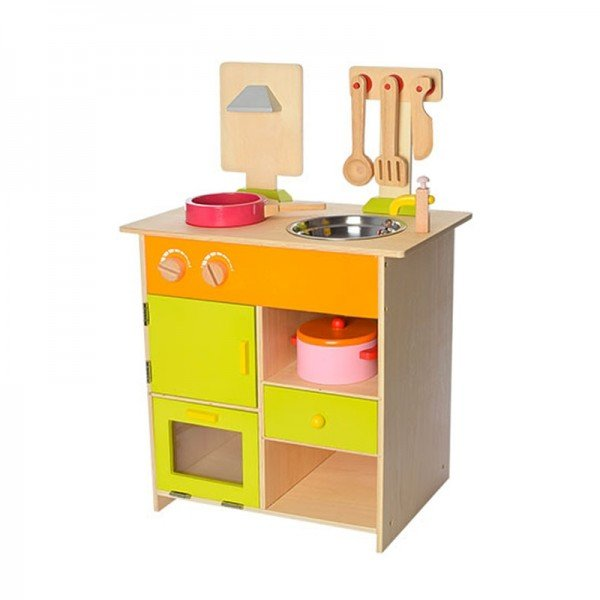 آشپزخانه کودک با لوازم بازی 7تکه مدل 6052