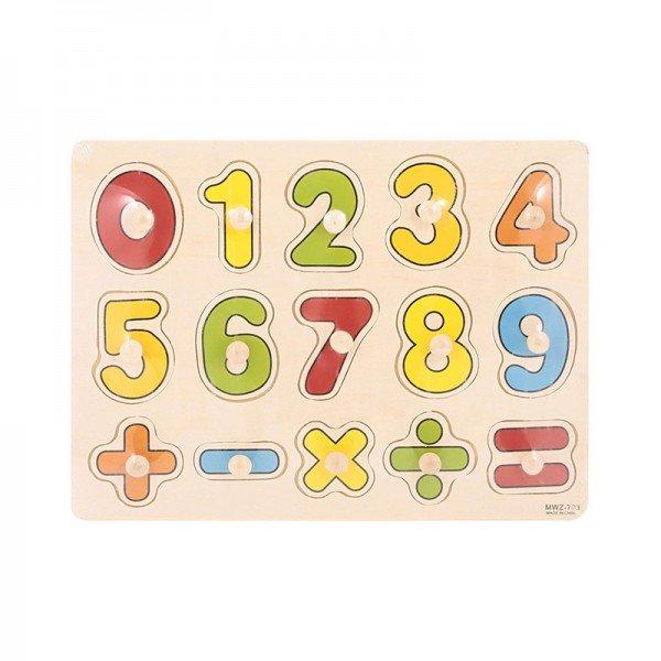 پازل چوبی جایگذاری اعداد مدل 703