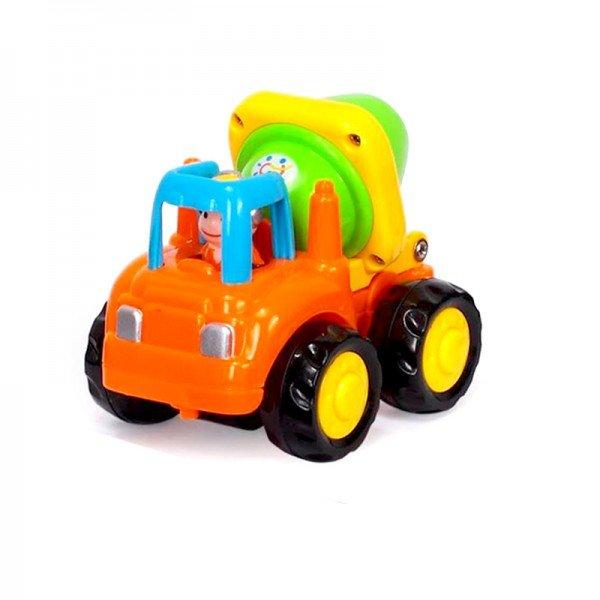 ماشین بازی HUILE TOYS کامیون میکسر سیمان نارنجی مدل 326CD