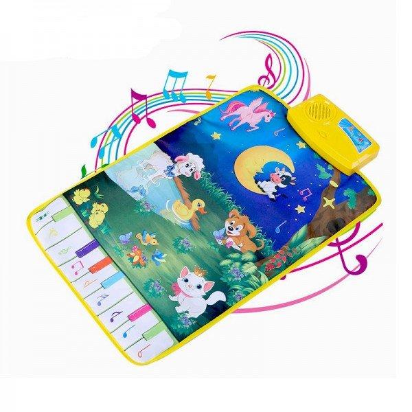تشک بازی و پارک بازی نوزاد موزیکال طرح حیوانات مدل 3901