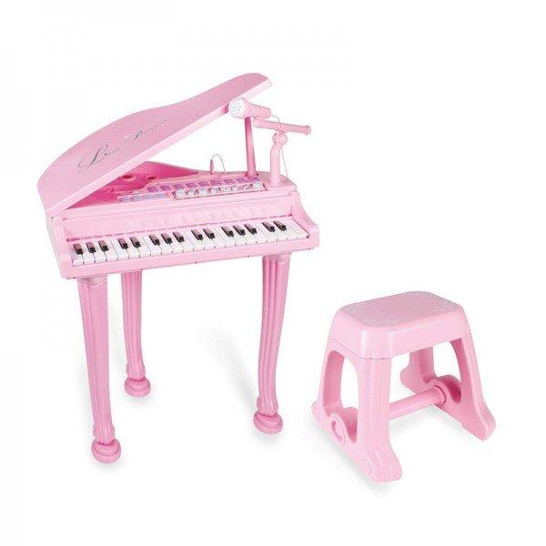 پیانو  کودک صورتی با میکروفن اسباب بازی مدل 1403