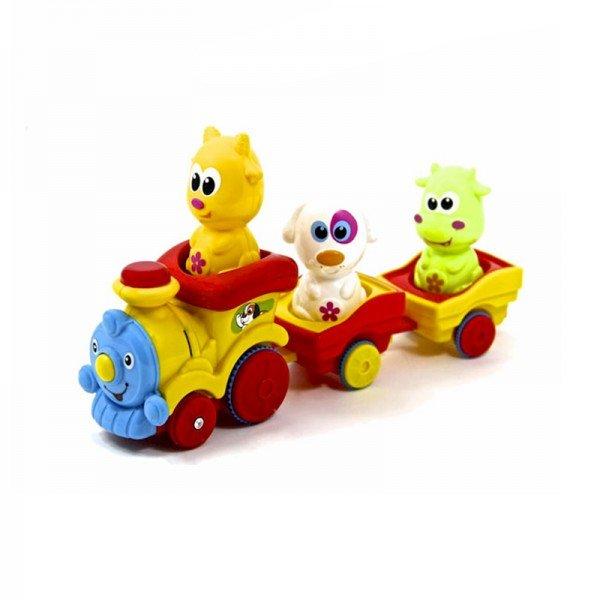 قطار اسباب بازی موزیکال حیوانات مدل 65122