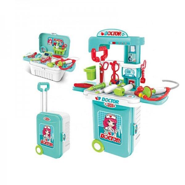ترولی و میز پزشکی چمدانی کودک مدل 008955