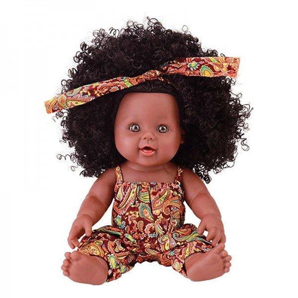 عروسک سیاه پوست با لباس نارنجی مدل 64114