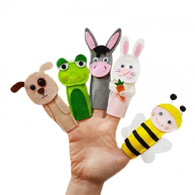 عروسک انگشتی نمدی حیوانات اهلی مدل 3421