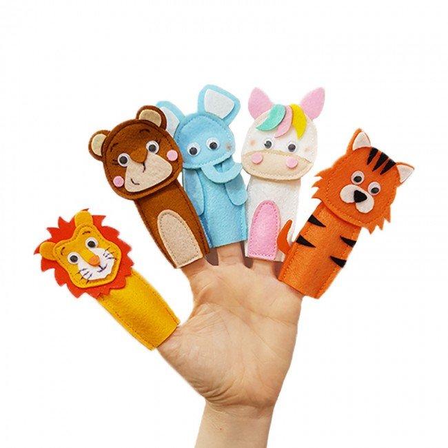 عروسک انگشتی نمدی حیوانات وحشی مدل 3421