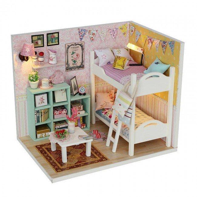 کیت خانه سازی چوبی اتاق خواب Cheryl's مدل M020