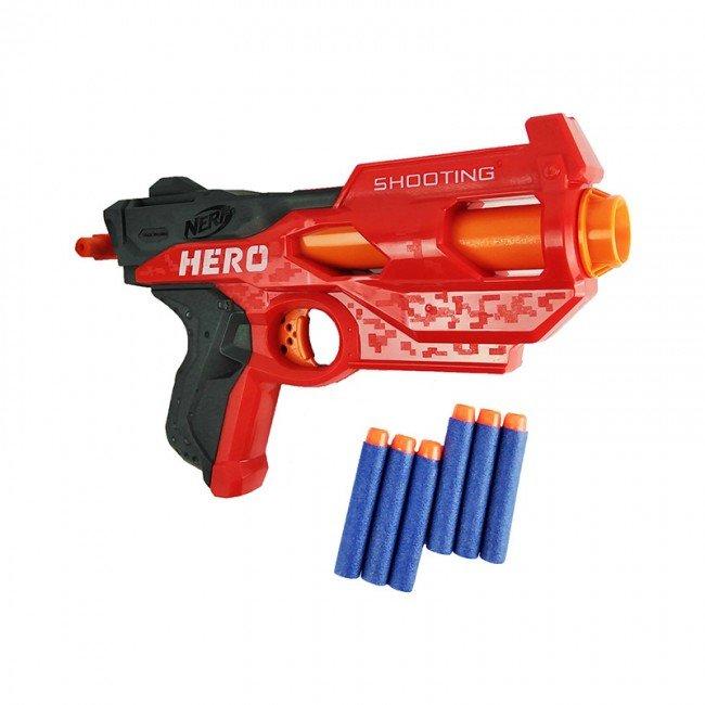 تفنگ اسباب بازی کودک نرف قرمز مدل 7023