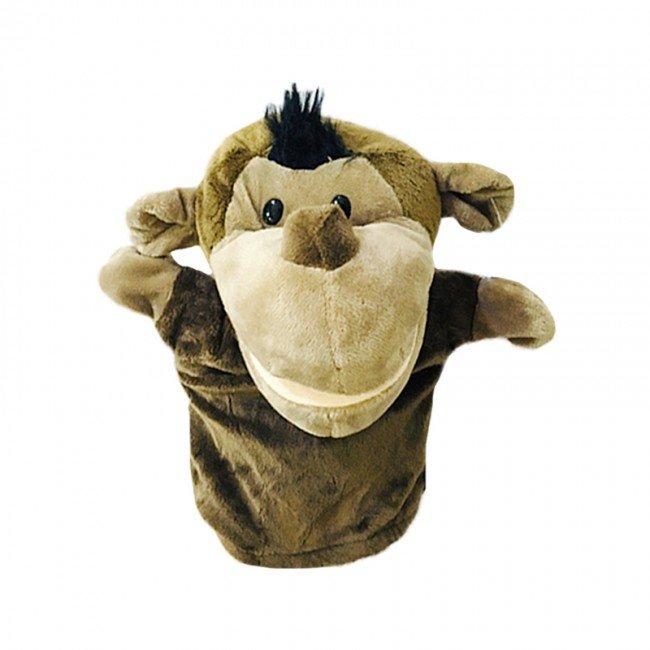 عروسک دستی و نمایشی میمون قهوه ای مدل JW015