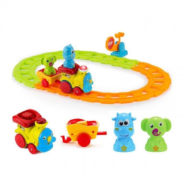 اسباب بازی قطار موزیکال حیوانات زرد مدل 65123