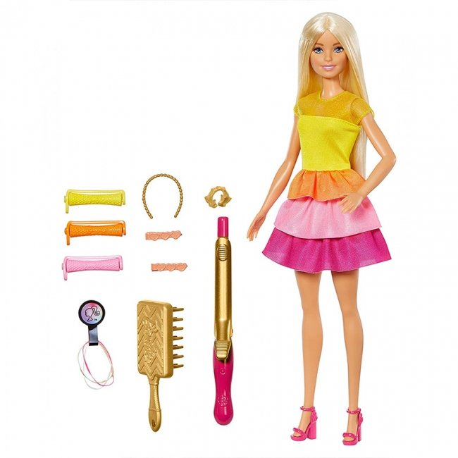عروسک باربی با لوازم آرایش مو مدل GBK24
