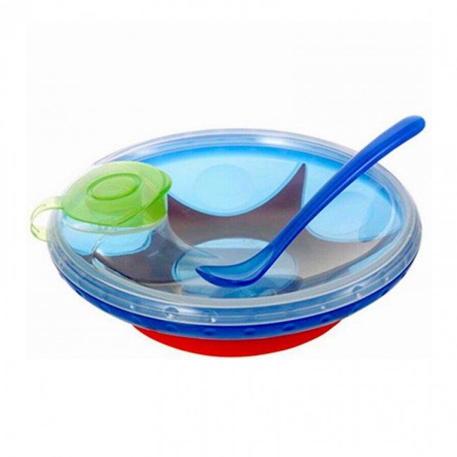 ظرف غذاي چسبي با محفظه گرم نگهدارنده آبي مدل 5342