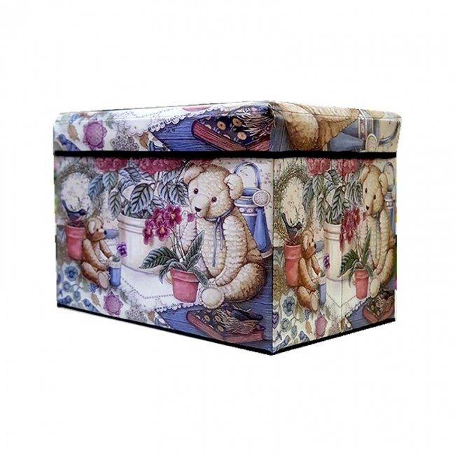 باکس اسباب بازی و صندلی کودک طرح خرس مدل 12817