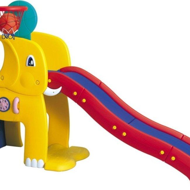 سرسره فیل کودک با حلقه بسکتبالhaenim PIC-1006