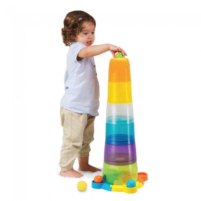 اسباب بازی برج هوش استوانه چرخشی  با توپ  Winfun مدل 00737