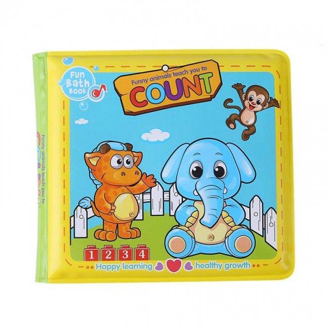 کتاب حمام کودک طرح فیل و گربه مدل 0957