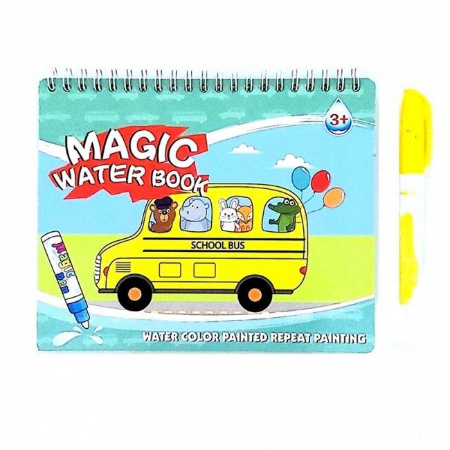 کتاب نقاشی و رنگ آمیزی با ماژیک جادویی طرح اتوبوس مدل 9995