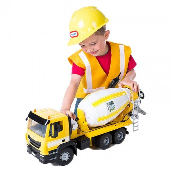 ماشین اسباب بازی میکسر فلزی زرد رنگ Tomy مدل 43056