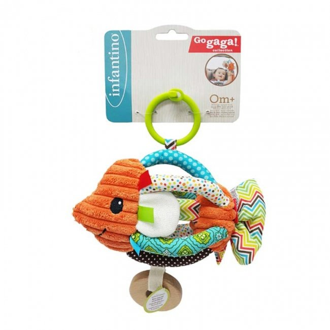 اسباب بازی نوزاد آویز تخت و کریر ماهی infantino مدل 5125