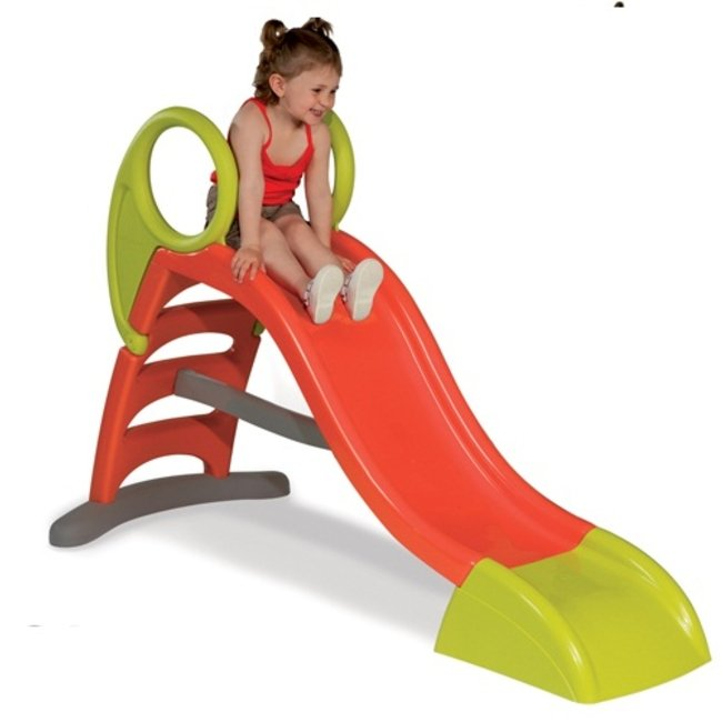 سرسره کودک سه پله قرمز و سبز با آب پاش smoby کد 310218