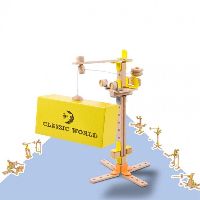 اسباب بازی جرثقیل چوبی Classic World مدل 3907