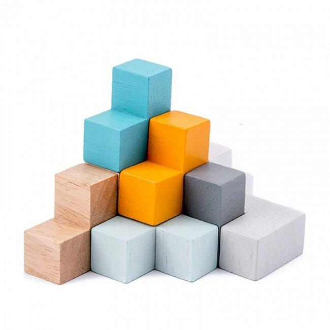 اسباب بازی ساختنی بلوک چوبی خانه سازی مدل 5128