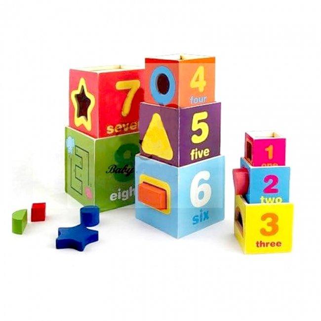 اسباب بازی برج هوش چوبی مدل 1558