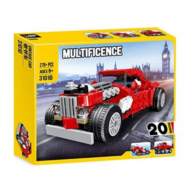 لگو ماشین کلاسیک قرمز Multificent مدل 31010