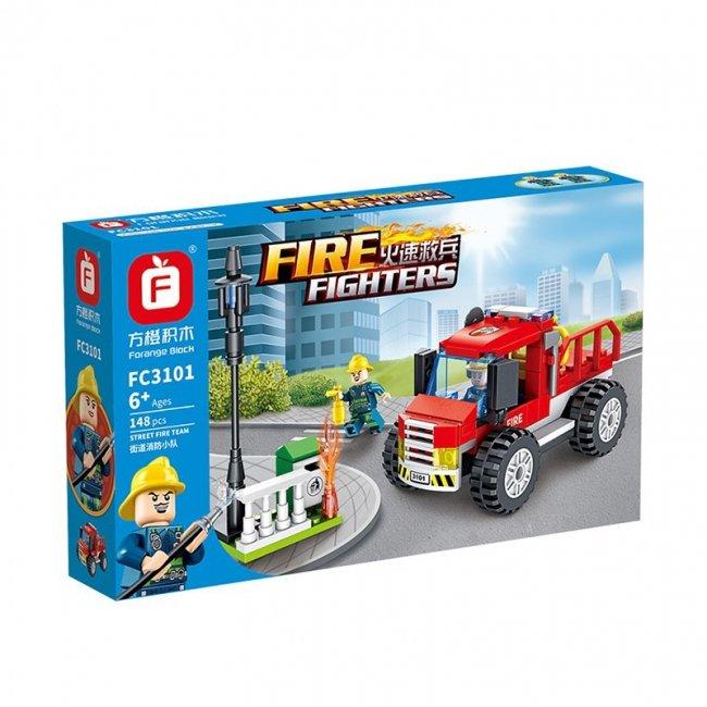لگو ماشین آتش نشانی و مینی فیگور 148 تکه مدل FC3101E