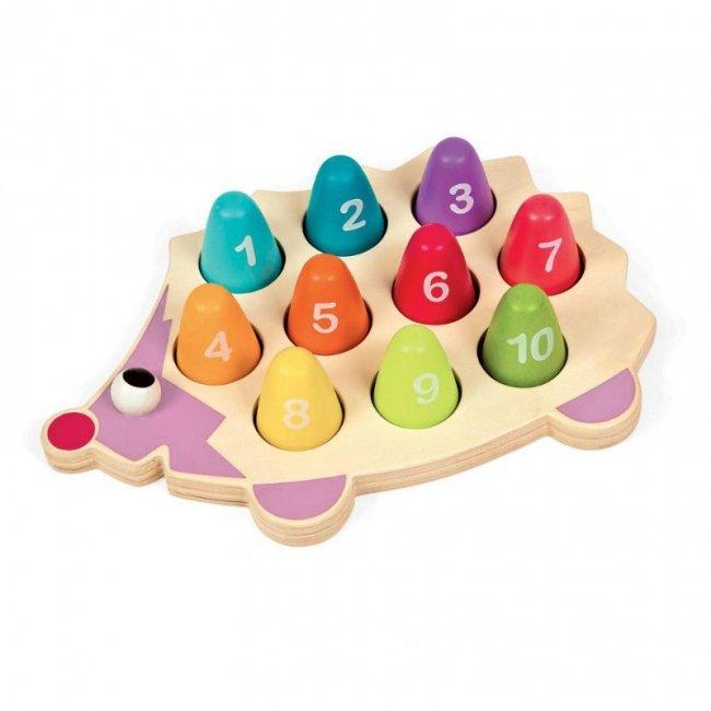 اسباب بازی چوبی آموزش اعداد طرح جوجه تیغی مدل 1503
