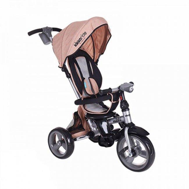 سه چرخه کودک تاشو با سایبان Kikka Boo رنگ بژ ملانژ مدل Nikki 3in1