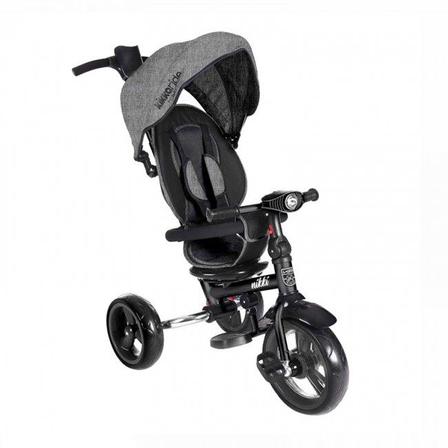 سه چرخه کودک تاشو با سایبان Kikka Boo رنگ طوسی تیره مدل Nikki 3in1 کد 31006020110