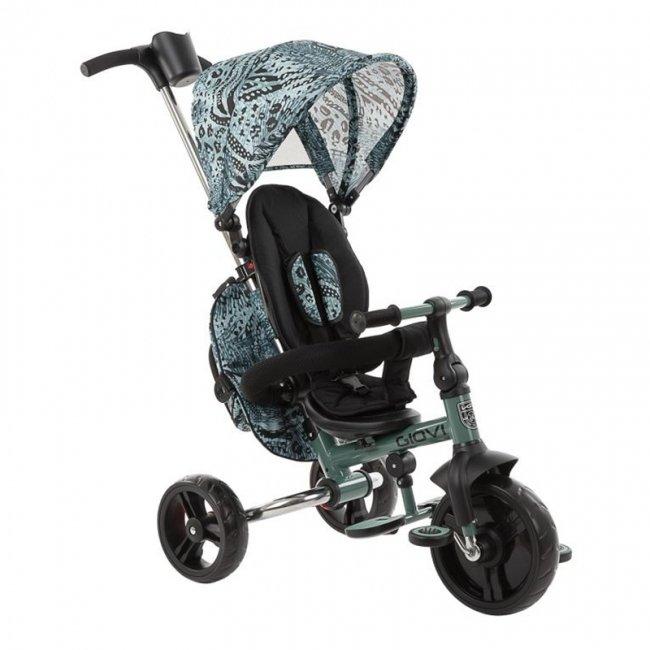 سه چرخه کودک تاشو با سایبان Kikka Boo رنگ مینت مدل Giovi