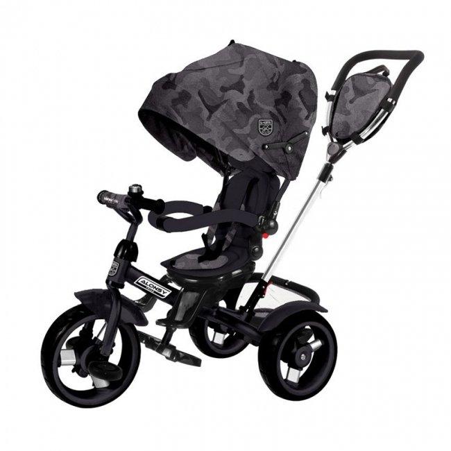 سه چرخه کودک چندکاره  Kikka Boo رنگ مشکی مدل Alonsy