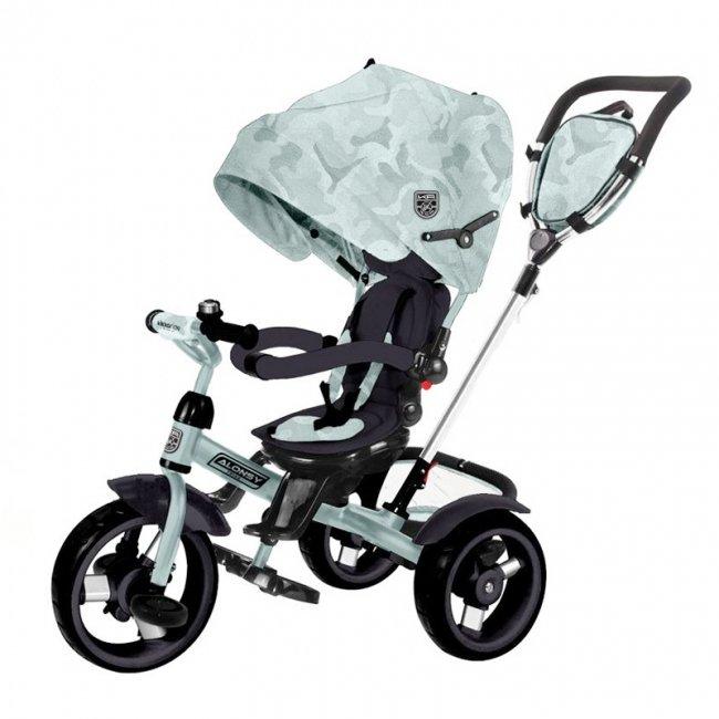 سه چرخه کودک سایبان دار صندلی گردان Kikka Boo رنگ مینت مدل Alonsy کد 31006020118