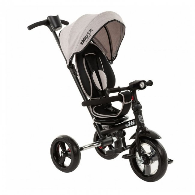 سه چرخه کودک تاشو با سایبان Kikka Boo رنگ طوسی روشن مدل Nikki 3in1 کد 31006020111