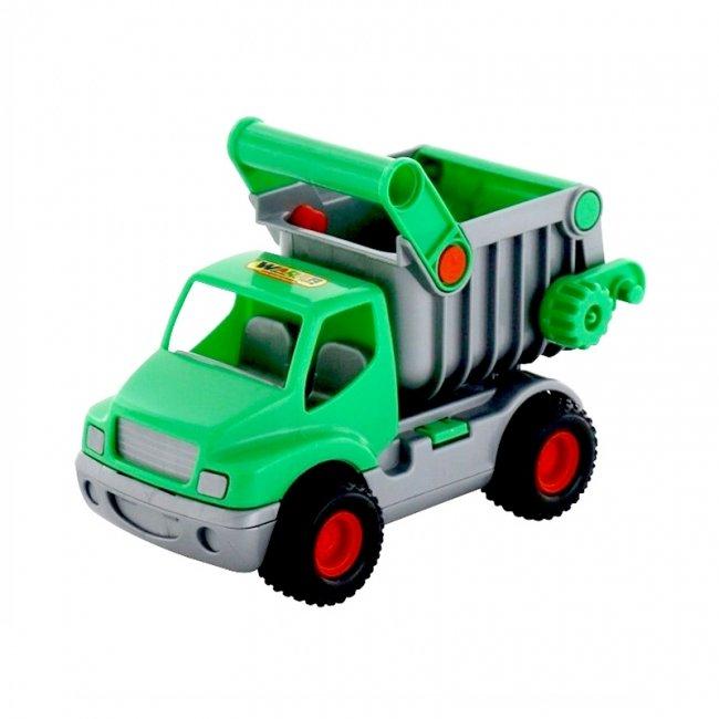 کامیون سبز با باربند نقره ای polesie مدل 44822