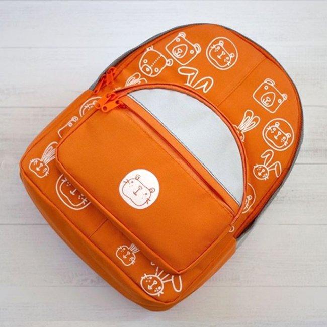 کوله پشتی کودک  رنگ نارنجی مدل 3200