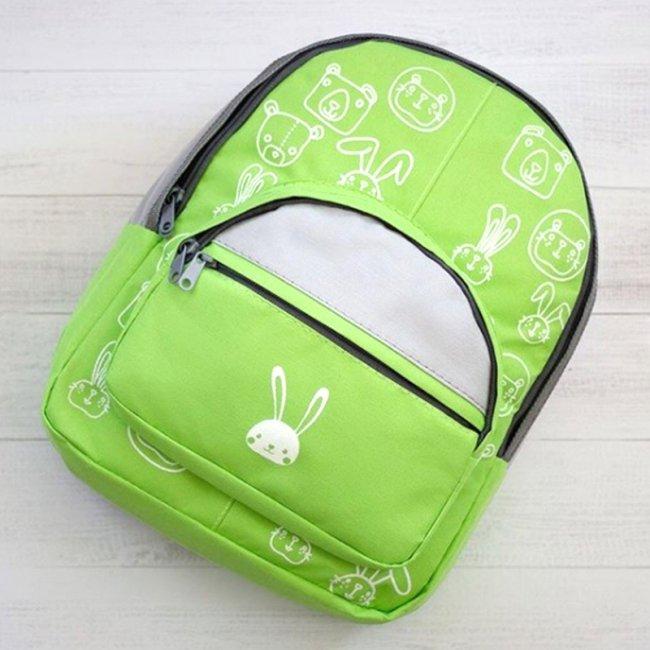کوله پشتی کودک  رنگ سبز مدل 3200