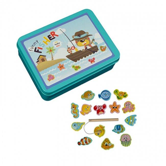 اسباب بازی ماهیگیری آهنربایی چوبی کد 3521