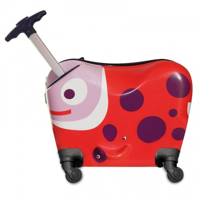 چمدان کودک اوپس طرح کفشدوزک چرخدار کد 3100933