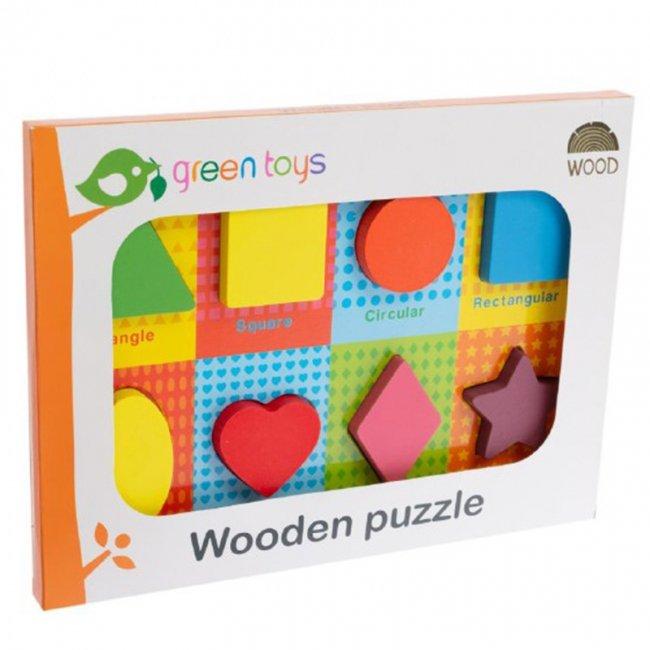 پازل چوبی جاگذاری اشکال هندسی کد 0102